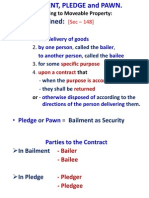 Bailment, Pledge and Pawn.