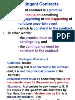 Contingent & Quasi Contracts