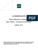 LA OBSERVACION Belen Ballesteros Practicas I