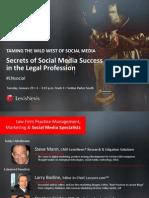 2013 LegalTech New York - Social Media Session Final