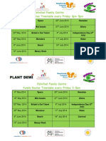 Microsoft Word - Felinfoel Family Centre Themed Timetable May-June 2014