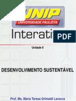 Desenvolvimento Sustentável Slides Unidade II