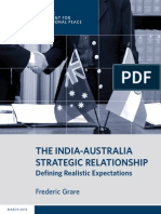 The India-Australia Strategic Relationship
