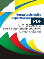 Nueva Legislación Deportiva Venezolana