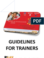 Guidelines for trainers