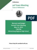 Wilbraham Town Meeting Warrant 2014