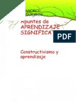 Apuntes de APRENDIZAJE SIGNIFICATIVO Constructivismo y Aprendizaje