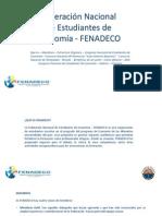 Presentación FENADECO