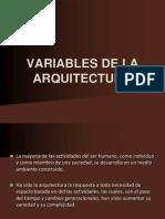Clase 4.Variables de La Arquitectura