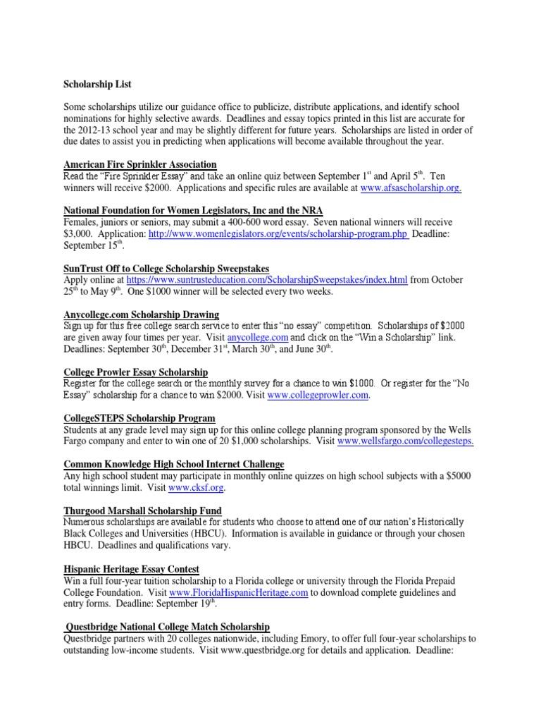 No essay scholarships high school seniors 2012 marketing cover letter internships
