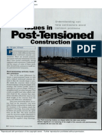 Issues in Post Tensioned