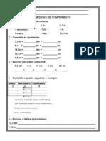 Ficha-Medidas de Comprimento m Dm Cm