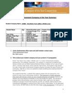 2013 JA Company Summary Template