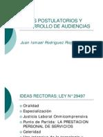 Actos Postulatorios y Desarrollo de Audiencias