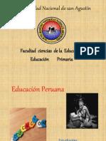 EDUCACION PERUANA DIAPOSITIVAS