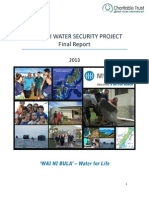 Fiji Annual Report- MWH Water Security Project