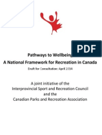 National Recreation Framework April 2014 - working draft