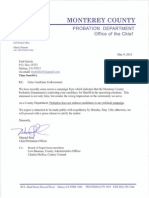 Letter to Fred Garcia Doc