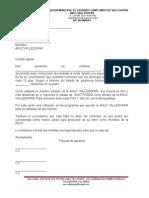 Carta Llamada de Atencion