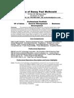 Resume DPMcDonald 2009[1.1.1]