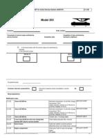 Mbz Service Sheet w203