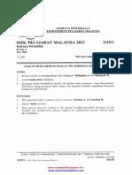 LPKPM SPM 2013 Bahasa Inggeris Kertas 1,2 Tw