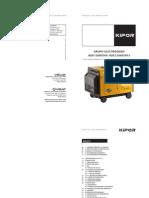 Manual de Operacion y Funcionamiento Generadores Kipor KDE12000TA