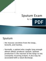 Sputum Exam