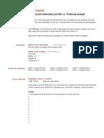 Format Curriculum Vitae