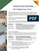 HAZOP Budgeting Tool