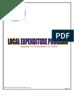 CSFP's Annual Executive Budget 2014