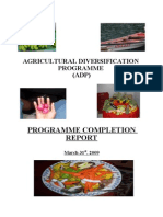 St Vincent and the Grenadines Agricultural Diversification Programme ADP Final Project Report 2009