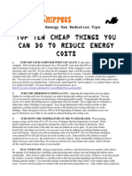 Top Ten Cheap Things You Can Do to Reduce Energy Costs