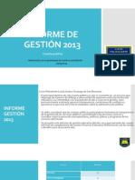 Informe de Gestión 2013-2014