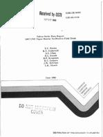Falcon Series Data Report - 1987 LNG Vapor Barrier Verification Field Trials