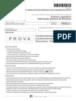 Fcc 2013 Al Rn Analista Legislativo Analista de Sistemas Prova