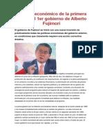 Impacto Económico de La Primera Etapa Del 1er Gobierno de Alberto Fujimori