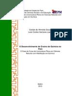 O Desenvolvimento Do Ensino de Química No Pará