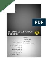 1 Sistemas de Costos Por Procesos Monografía
