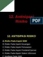 12.  Antisipasi Risiko
