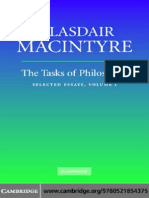 Alasdair Macintyre Tasks of Philosophy