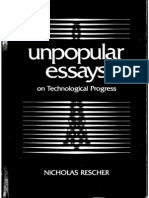 RESCHER, Nicholas. Unpopular Essays on Techonological Progress