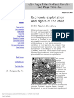 Economic Exploitation and Rights of the Child