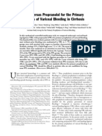 Ligation Versus Propranolol for the Primary Prophylaxis of Variceal Bleeding in Cirrhosis 2004