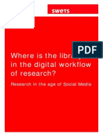 Where is the library in the digital workflow of research?