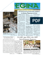 Regina Newsletter Volume 3 No 2 Oct Nov 2009