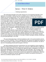 us attorneys' criminal resource manual 30 electronic surveillance -- title iii orders