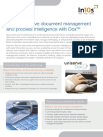 Comprehensive document management and process intelligence with Dox