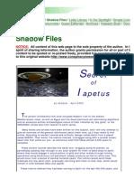 Iapetus Manufactured Planet