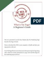 intro/benefits Yin Yoga